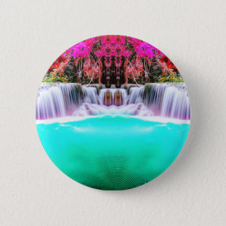 Psychedelic Waterfall 2 Inch Round Button