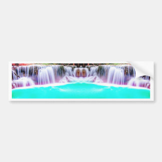 Psychedelic Waterfall Bumper Sticker