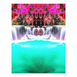 Psychedelic Waterfall Letterhead