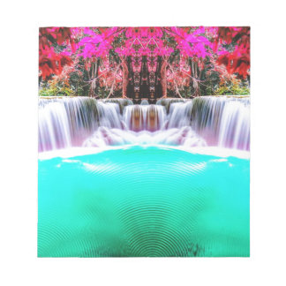Psychedelic Waterfall Notepad