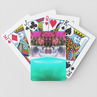 Psychedelic Waterfall Poker Deck