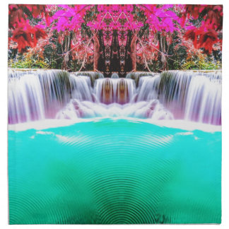 Psychedelic Waterfall Printed Napkin
