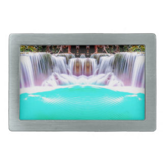 Psychedelic Waterfall Rectangular Belt Buckles