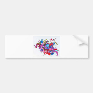 Psychedelic Wave Bumper Sticker