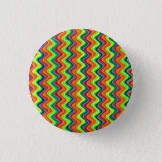 Psychedelic Waves 1 Inch Round Button