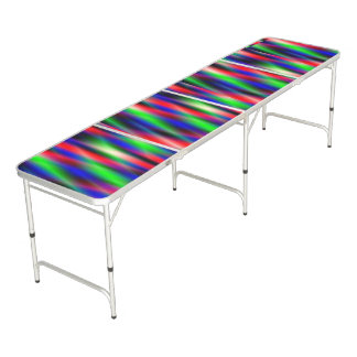 Psychedelic Waves Beer Pong Table