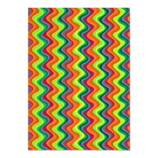 Psychedelic Waves Card
