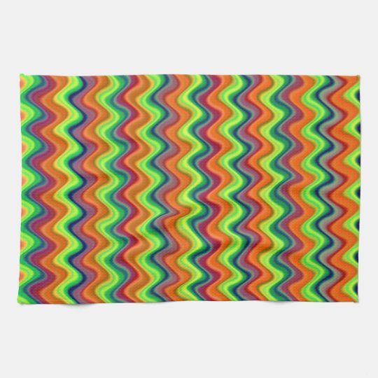 Psychedelic Waves Kitchen Towel