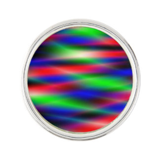 Psychedelic Waves Lapel Pin