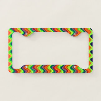 Psychedelic Waves License Plate Frame