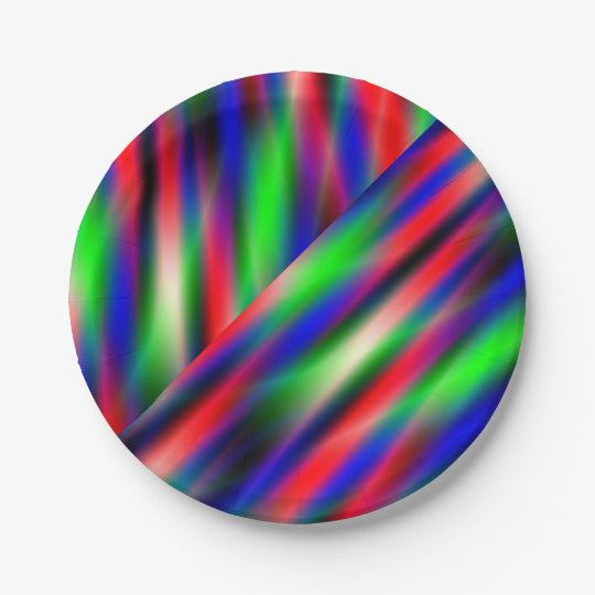Psychedelic Waves Paper Plate