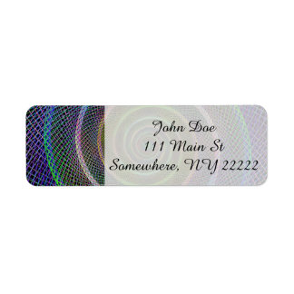 Psychedelic Webbed Spiral Return Address Label