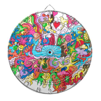 Psychedelic Whale Dart Boards