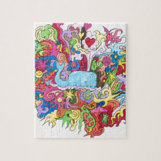 Psychedelic Whale Jigsaw Puzzle