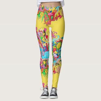Psychedelic Whale Leggings