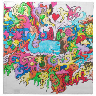 Psychedelic Whale Napkin