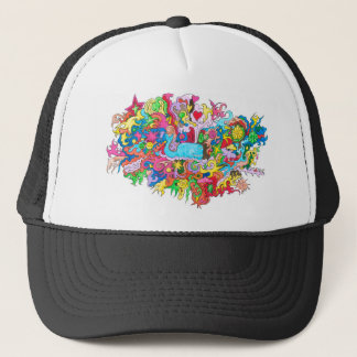 Psychedelic Whale Trucker Hat