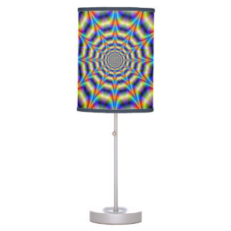 Psychedelic Wheel Table Lamp