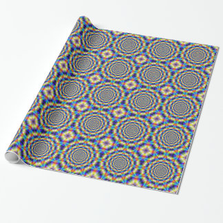 Psychedelic Wheel Tiled Wrapping Paper