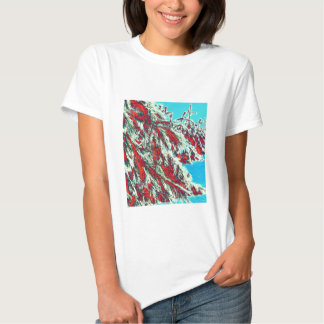psychedelic winter landscape shirts
