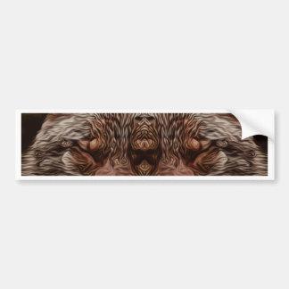 Psychedelic Wolf Bumper Sticker