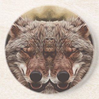 Psychedelic Wolf Coaster