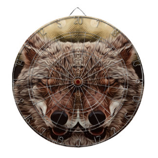 Psychedelic Wolf Dartboard