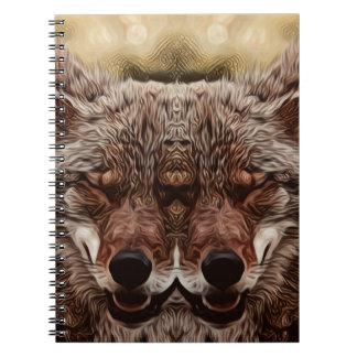Psychedelic Wolf Notebook