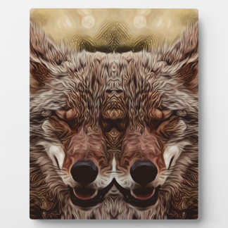 Psychedelic Wolf Plaque