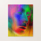 Psychedelic Woman Face Jigsaw Puzzle