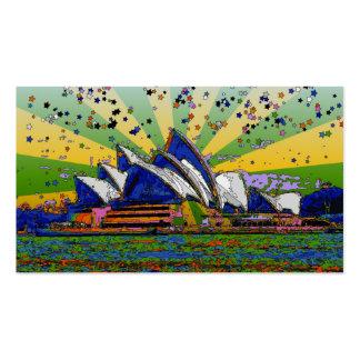 Psychedelic World: Sydney Australia Skyline A2 Business Card