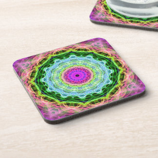 Psychedelic Wormhole kaleidoscope Drink Coaster