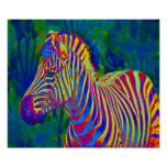 psychedelic zebra