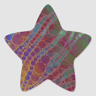 Psychedelic Zebra Abstract Pattern Star Sticker