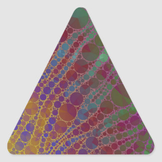 Psychedelic Zebra Abstract Pattern Triangle Sticker