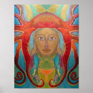 Psychedelische Kunst - Psychedelic Art Poster 60s