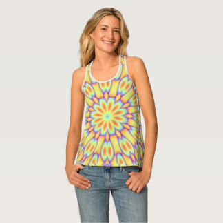 Psychedlic Flower Tank Top