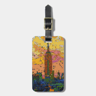 Psychedlic NYC: Empire State Building #1 Luggage Tag
