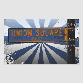 Psychedlic NYC: Union Square Street Sign A1 Rectangular Sticker