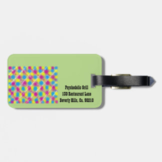 Psychelic Grill Luggage Tag
