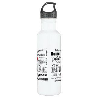 Psychiatric Nurse-Attributes/Red Heart 710 Ml Water Bottle