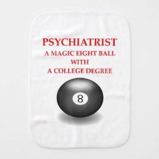 psychiatrist burp cloth