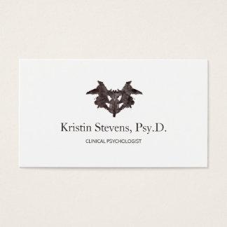 Psychiatrist Ink Blot Appointment Reminder Business Card