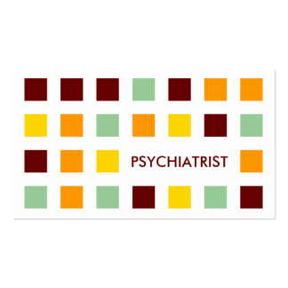 PSYCHIATRIST (mod squares) Double-Sided Standard Business Cards (Pack Of 100)