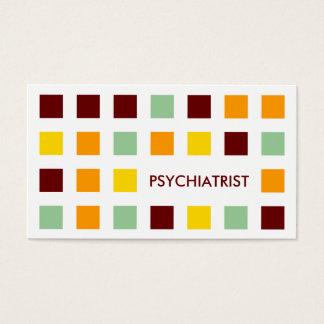 PSYCHIATRIST (mod squares) Business Card