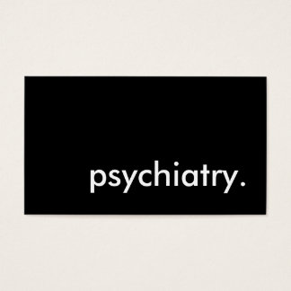 psychiatry. business card