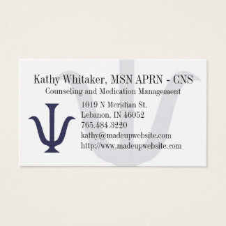 Psychiatry Business Card