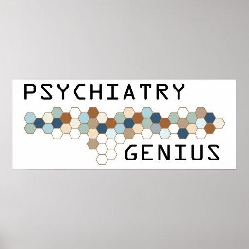 Psychiatry Genius Poster