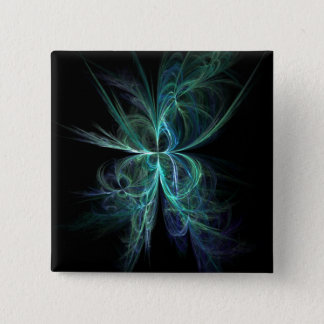 Psychic Energy Fractal 2 Inch Square Button