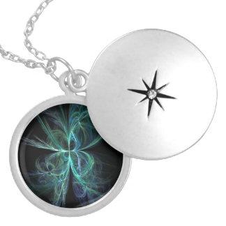 Psychic Energy Fractal Locket Necklace
